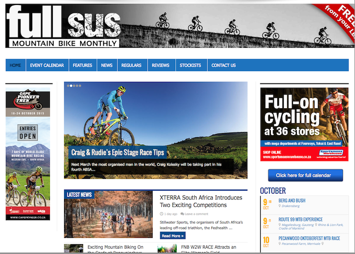 Full Sus Cycling Site